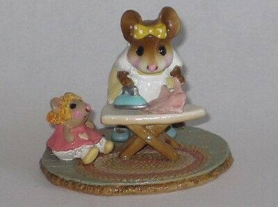 Wee Forest Folk - M-291a IRONING DOLLY'S DRESS