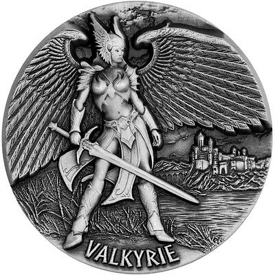 2016 Valkyrie 3 oz .999 fine silver coin Tokela Legends of Asgard MAX RELIEF