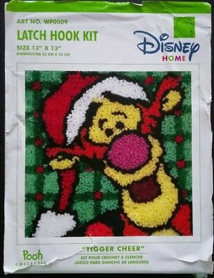 Disney Huggable Pooh Latch Hook Kit 13x13 Inches Started