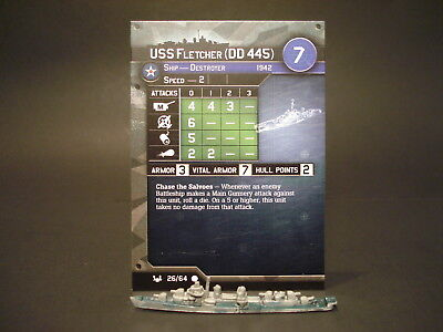 Axis and Allies War at Sea - 26/64 USS Fletcher - Destroyer (C) - USA(#16)