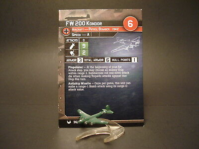 Axis and Allies War at Sea - 36/64 FW 200 Kondor - Patrol Bomber (UC) - GE(#20)