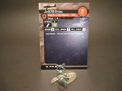 Axis and Allies War at Sea - 37/64 Ju 87B Stuka - Dive Bomber (C) - GE(#21)