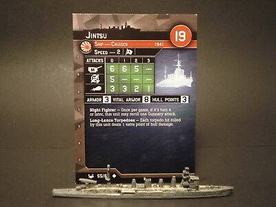 Axis and Allies War at Sea - 55/64 Jintsu - Cruiser (UC) -JP(#28)