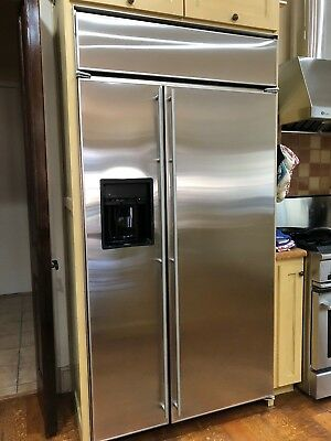 Refrigerator Freezer Ge Monogram 42 Built In Stainless Water