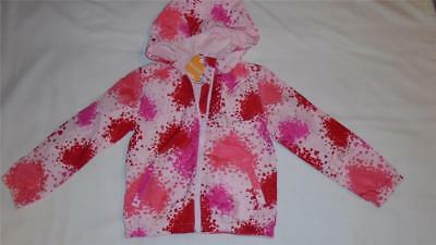 NEW Girls Size S 5-6 Gymboree Jacket Windbreaker With Upside Down Hearts $39 NWT