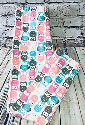 Girl's Carters Leggings Owl Print - Size 5 Pull Up Stretch Ankle Pants Kids New