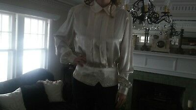 VINTAGE 1980s Worthington back button  Blouse Top marked size 12 best fit 6 to 8