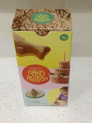 Kinetic Sand In Motion: NEW 1kg Box Magic Non-Stick Natural Colour
