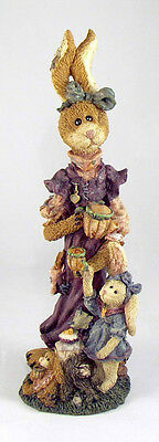 Boyds Bears Easter Bunny Rabbits-Flora Amelia Eloise Tea Party With Carrot Cake
