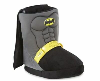 Batman DC Comics Toddler Boy's Black Boot Slip-On Slipper/Shoe: 5/6-11/12