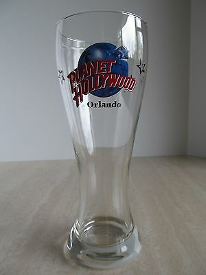 "PLANET HOLLYWOOD ~ ORLANDO FLORIDA! 8.5"" Pilsner Beer Glass Collectible Souvenir"