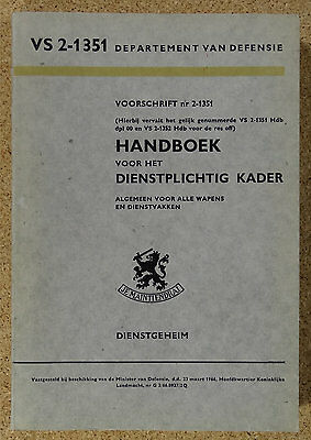 Niederlande Holland Dutch Handboek voor het Kader VS 2-1351 von 1966 no Reibert
