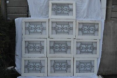 2 art deco leaded light stained glass window panels. R738a. WORLDWIDE DELIVERY!