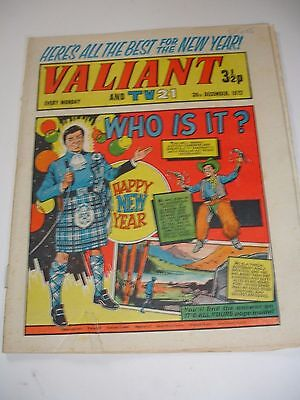 VALIANT And TV 21 comic 30th December 1972
