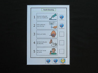 Simple Steps Cleaning Teeth Schedule- Autism/SEN/Visual NonVerbal Learning/PECS