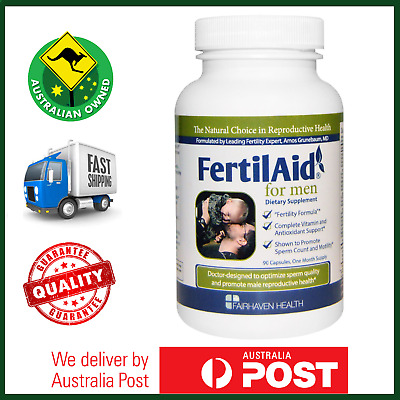 Fairhaven Health, FertilAid for Men, 90 Capsules - Menevit, Male Sperm Fertility