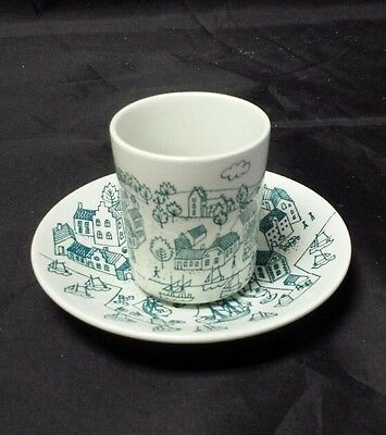 Nymolle Art Faience Hoyrup Cup & Saucer Set Limited Edition #6007 Denmark