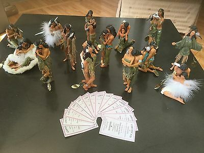 Lee Bogle Native American figurines collection of 14 Literally Perfect