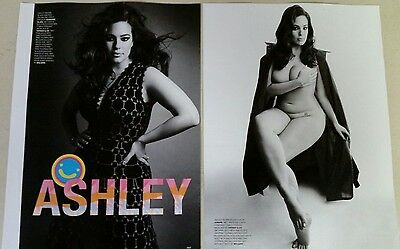 ASHLEY GRAHAM 2 pc. Full Page magazine clippings pinups Plus-size curvy model