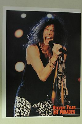 """AEROSMITH Steven Tyler Full Page Pinup magazine clipping """"F**k"""" pants!"""