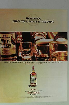"""WILD TURKEY """"Check Your Skirts at the Door"""" Full Page AD magazine clipping 2005"""