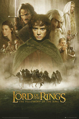Lord Of The Rings Fellowship Of The Ring 1 Sheet Maxi Poster Print 61x91.5cm
