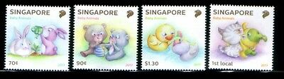 SINGAPORE Baby Animals MNH set