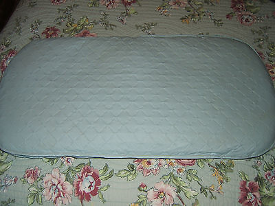 """Vintage Baby Crib/bassinet Mattress 25-26"""" Long & 12"""" Wide-Color Blue-Nice Cond"""