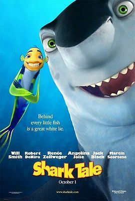 Shark Tale Original Double-Sided Advance Rolled Movie Poster 27x40 NEW 2004
