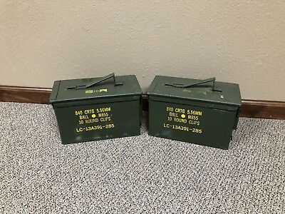 ONE - Ammo Can M2A1 50 Cal Ammunition Metal Storage 5.56MM US Military Surplus