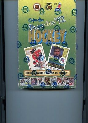 1991-92 O Pee Chee Premier Hockey Factory Sealed Box 36 Packs