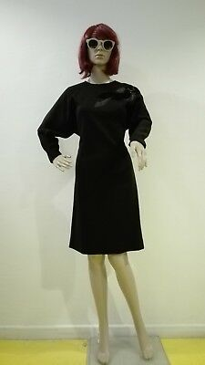 Black WINTER Dress 80s Made in ITALY size 44