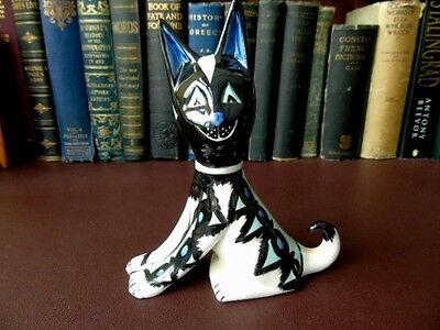Lorna Bailey, Ltd Edition - Black & Turquoise  Cat Figurine #10 of just 50 Made