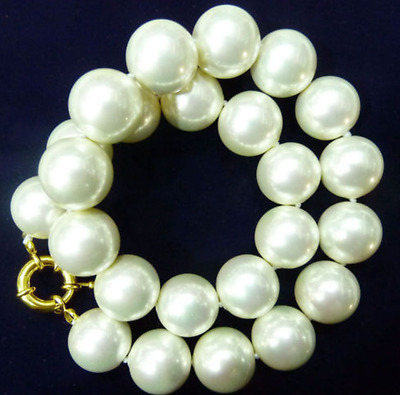 """20mm AAA+ White south sea shell pearl necklace 18""""AAA"""