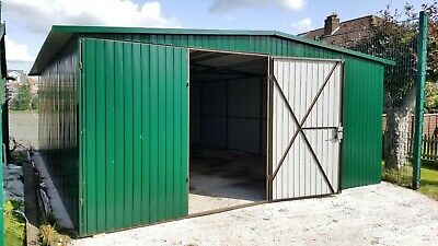 Big Storage 17x22ft Garage Tough Shed Motorcycle Secure Steel Workshop Unit Safe
