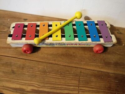 Vintage Fisher-Price Pull-A-Tone Xylophone  1964