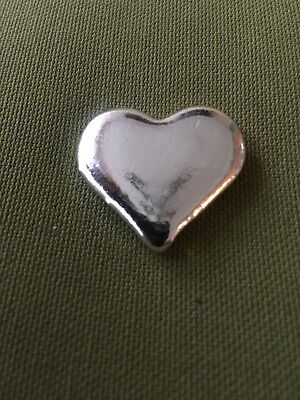 1 Oz Poured Silver Heart - Trident Silver (.999 Pure)