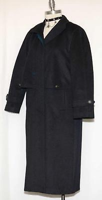 ORIGINAL LODEN BLACK Over COAT Boiled WOOL German Winter LONG Trench 12 M B42""