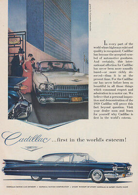 1959 Cadillac: First in the Worlds Esteem Vintage Print Ad