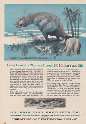 1957 Illinois Clay Products: Goose Lake Fire Clay Vintage Print Ad