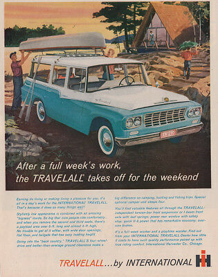 1961 International Harvester Travelall: Full Weeks Work Vintage Print Ad