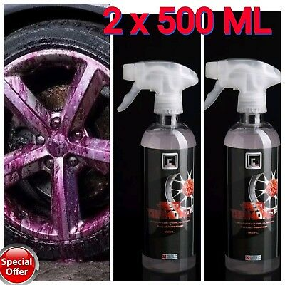 Iron Fallout Remover Safe Alloy Wheel Cleaner PH 7 Neutral 1 litre AC-PRO Red D