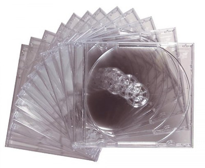 Maxell CD DVD Standard Jewel Cases Clear 12 Pack Clear 10mm Storage Case