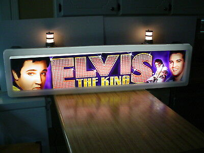 Original Elvis Presley Casino Slot Advertising Light Up Sign