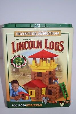 The Original Lincoln Logs~Frontier Junction~Boy/Girl~3+~ 100 PC~Classic Toy~ NEW