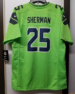 timeless design 9fc22 40a1b greece richard sherman youth color rush jersey 7155e cf494