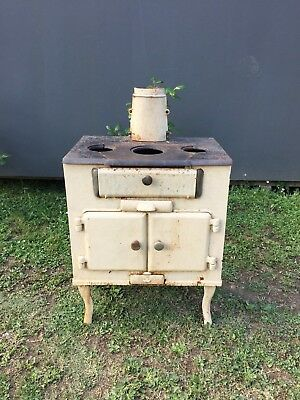 Lovely Antique Metters Chef Cast Iron Stove * Wood Stove