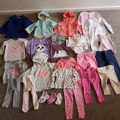Baby Girl Winter Clothing Bulk Bundle Lot Size 1 25 Pieces Jackets Pants Tops