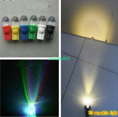 5pcs DC6V~24V T10 plug lamp LED Colorful flashing lights Indicator light bulb