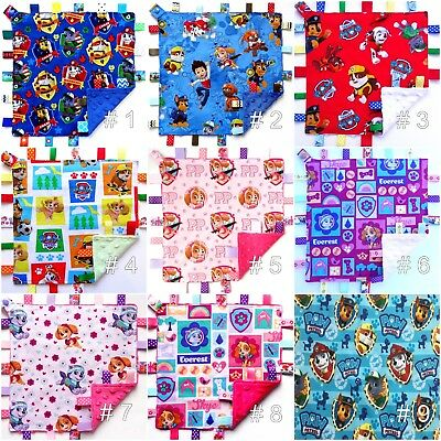 LARGE Size Personalized Taggie Taggy Tag Blanket Toy comforter dummy clip holder